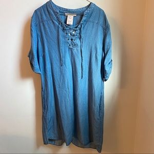 NWT Philosophy Chambray Dress w/ Pockets - Size L